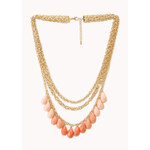 FOREVER21 On The Edge Layered Bib Necklace
