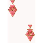 FOREVER21 Angular Geo Drop Earrings