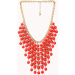 FOREVER21 Sleek Beaded Bib Necklace
