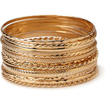FOREVER21 Mixed Textured Bangles