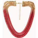 FOREVER21 Statement Layered Ombré Necklace