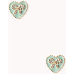 FOREVER21 Girly Heart-Shaped Bow Studs