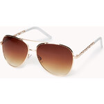FOREVER21 F6522 Sleek Aviator Sunglasses