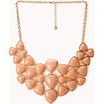 FOREVER21 Dazzling Faux Stone Bib Necklace