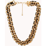 FOREVER21 Bold Woven Double Chain Choker