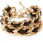 FOREVER21 On The Edge Woven Chain Bracelet