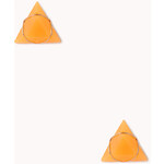 FOREVER21 Triangle Faux Gemstone Studs