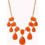 FOREVER21 Luxe Teardrop Bib Necklace