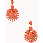 FOREVER21 Art Deco Faux Stone Drop Earrings