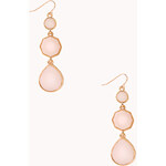 FOREVER21 Sleek Geo Drop Earrings