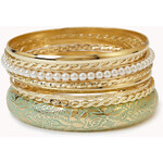 FOREVER21 Painted Pearlescent Bangle Set