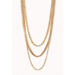 FOREVER21 Layered Chain Necklace