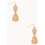 FOREVER21 Fancy Faux Stone Drop Earrings