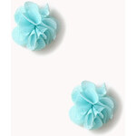 FOREVER21 Chiffon Rosette Earrings