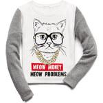 FOREVER21 girls Meow Money Sweatshirt (Kids)