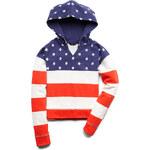 FOREVER21 girls American Flag Hoodie (Kids)
