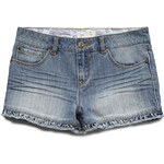 FOREVER21 girls Ruffled Denim Shorts (Kids)