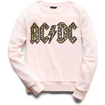 FOREVER21 girls Leopard ACDC Sweatshirt (Kids)