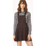 FOREVER21 Polka Dot Overall Dress