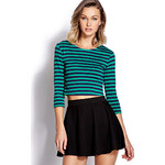 FOREVER21 Mod Striped Crop Top