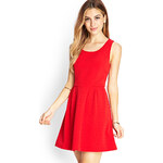 FOREVER21 Textured Fit & Flare Dress
