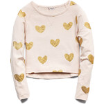FOREVER21 girls Dazzling Hearts Top (Kids)