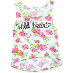 FOREVER21 girls Wild Heart Floral Tank Top (Kids)