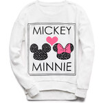 FOREVER21 girls Mickey Minnie Sweatshirt (Kids)