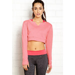 FOREVER21 Post Workout Cropped Sweatshirt