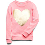FOREVER21 girls Heart Of Gold Sweatshirt (Kids)