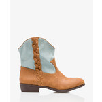 FOREVER21 Out West Denim Paneled Booties