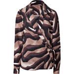 Salvatore Ferragamo Silk Zebra Print Blouse