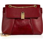 Roland Mouret Leather/Haircalf Bagatelle Shoulder Bag