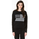 "Tally Weijl Black ""Flag"" Printed Sweater"