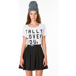 "Tally Weijl White ""Tally Loves You"" Top"