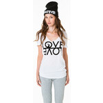 "Tally Weijl White ""Love"" Printed Top"