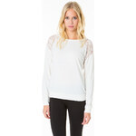 Tally Weijl White Lace Panels Top