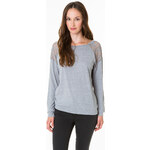 Tally Weijl Grey Lace Panels Top