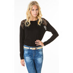 Tally Weijl Black Lace Panels Top