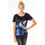 Tally Weijl Printed Top With Open Back Panel