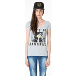 "Tally Weijl Grey ""Bananas"" Printed Top"