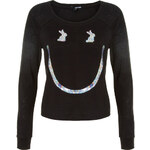 Tally Weijl Black Sequins Smiley Top