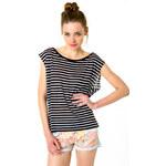 Tally Weijl Black & White Striped Top