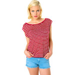 Tally Weijl Red & White Striped Top