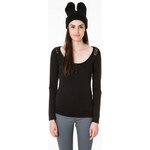 Tally Weijl Black Button Plaque Top with Lace Back