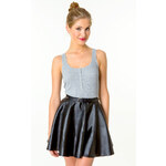 Tally Weijl Grey Button Vest top