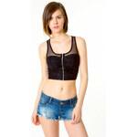 Tally Weijl Black Lace & Mesh Crop-Top