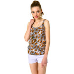 Tally Weijl Brown Leopard Print Top
