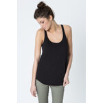 Tally Weijl Black Racer-Back Slub Top