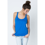 Tally Weijl Blue Racer-Back Slub Top